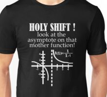 Holy Shift Look Asymptote That Mother Function white Unisex T-Shirt