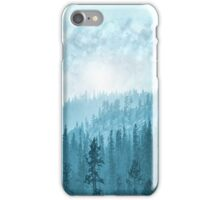 Here Comes The Sun - Misty Forest - Turquoise iPhone Case/Skin