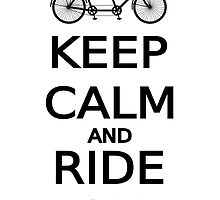 keep calm and ride on word art, text design by beakraus