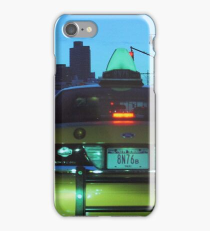 New York Taxi at Dusk iPhone Case/Skin
