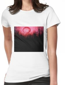 THE RED TREES GALAXY MOON Womens Fitted T-Shirt