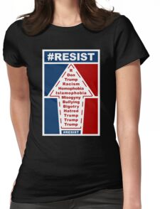 Resist Hashtag Womens Fitted T-Shirt