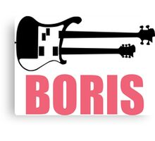 Boris two-neck guitar Canvas Print