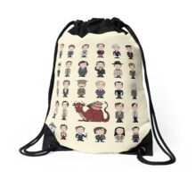 A Field Guide to the Common Cumberbatch (pillow/bag) Drawstring Bag