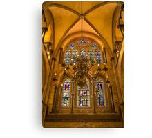 Stain glass Abbey  Canvas Print