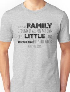 My family in black Unisex T-Shirt