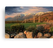 Sunrise In Carson Valley Canvas Print