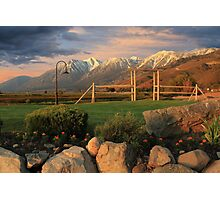Sunrise In Carson Valley Photographic Print