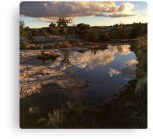 Enjoying The Golden Hour in Moab, Utah Canvas Print