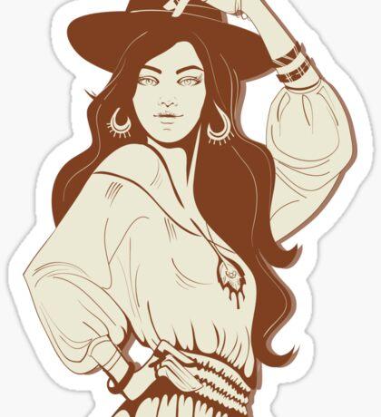 Boho Chic girl Sticker