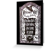 Witch Dessert Menu Halloween Greeting Card