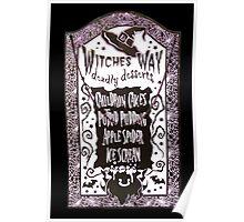 Witch Dessert Menu Halloween Poster