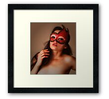 RED MASK   ...  Framed Print