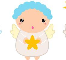 Cute Christmas Kawaii Angels Sticker