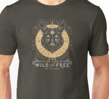 Wild & Free Wolf – Gold & Grey Unisex T-Shirt