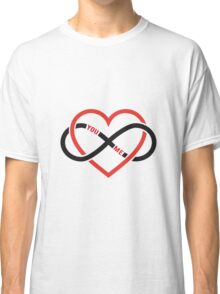 never ending love, red heart with infinity sign Classic T-Shirt