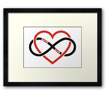 never ending love, red heart with infinity sign Framed Print