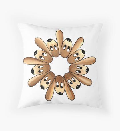 Pups Ring Throw Pillow
