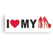I love my red shoes Canvas Print