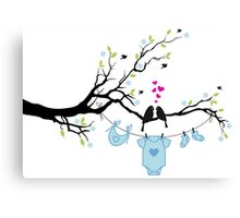 new baby boy, baby shower Canvas Print