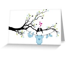 new baby boy, baby shower Greeting Card