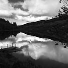 Dubh Loch Jetty and Reflections by Tim Haynes
