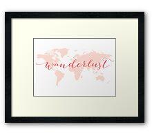 Wanderlust, desire to travel, world map Framed Print