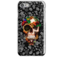 Halloween sugar skull with butterfly iPhone Case/Skin