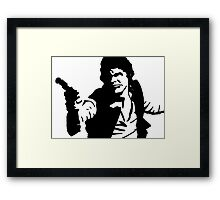 Han Solo Star Wars Abstract Framed Print