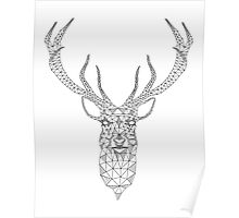 Christmas deer head abstract geometric pattern Poster