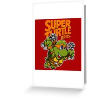 Super Turtle Bros - Mikey Greeting Card