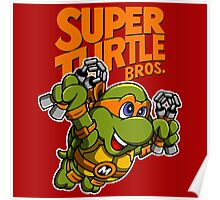 Super Turtle Bros - Mikey Poster