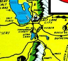 Utah State Map Vintage Travel Decal Sticker