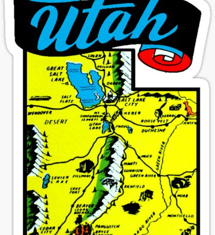 Utah State Map Vintage Travel Decal Sticker