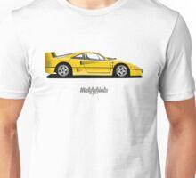 Ferrari F40 (yellow) Unisex T-Shirt