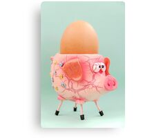 Pig Eggcup Canvas Print
