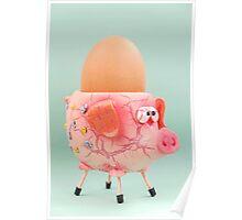 Pig Eggcup Poster