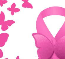 Breast Cancer Pink Ribbon Butterflies  Sticker