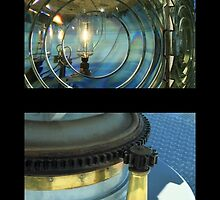 Cape Blanco Lighthouse Tetraptych - P by James Eddy