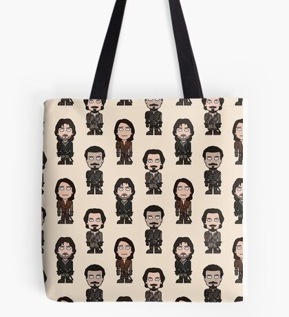 Repeating Musketeers (cream ground) Tote Bag