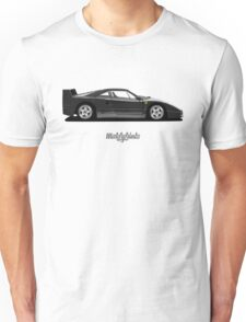 Ferrari F40 (black) Unisex T-Shirt