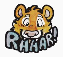 Raaar! Sabertooth Tiger Sticker by djinni