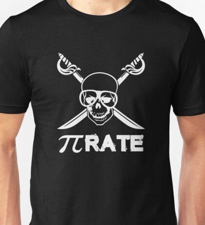 Pi Rate white Unisex T-Shirt