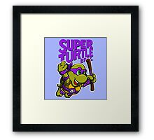 Super Turtle Bros - Donnie Framed Print