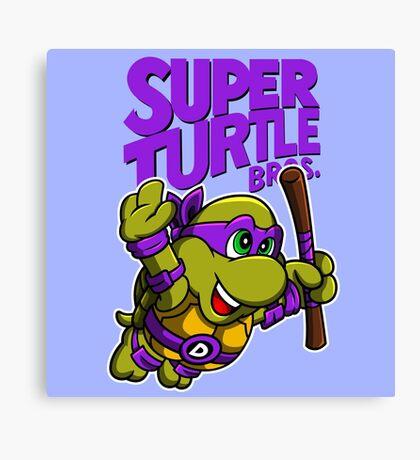 Super Turtle Bros - Donnie Canvas Print