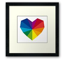 colorful geometric heart Framed Print