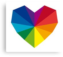 colorful geometric heart Canvas Print