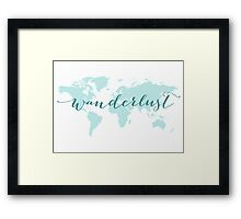 Wanderlust, desire to travel, world map Framed Print