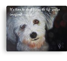 Puppy with Wise Words Canvas Print