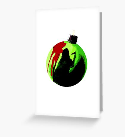 black christmas Greeting Card